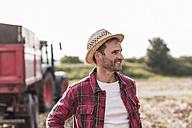 Portrait of confident farmer on field - UUF11927