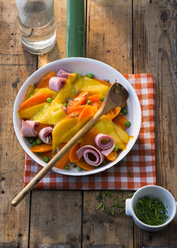 Stir-fry with ham and cheese - PPXF00084