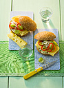 Sandwich with compound butter, cheese, green grapes bell pepper and sprouts - PPXF00093