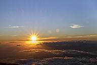 USA, Hawaii, Big Island, Haleakala National Park, sunset - HLF01039