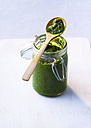 Glass of homemade pesto - PPXF00119
