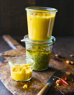 Glasses of various pesto - PPXF00122