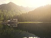 Italy, Trentino, Rendena valley, Lake Nambino at sunset - LOMF00629