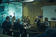 Group of business people discussing in meeting - ZEDF00905
