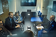 Group of business people discussing in meeting - ZEDF00908