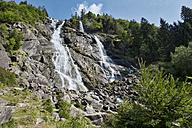 Italy, Trentino, Val di Genova, Nardis waterfalls - LOMF00643