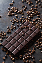 Freshly roasted coffee beans and dark chocolate - CSF28414