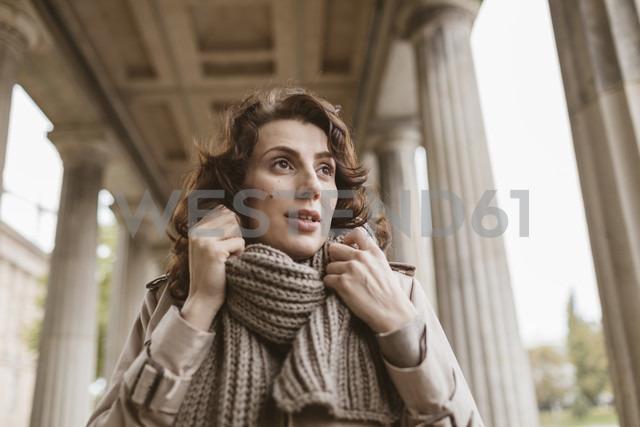 Germany, Berlin, portrait of woman in autum - KMKF00047
