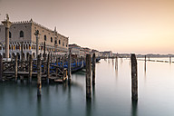 Italy, Venice, gondolas at Doge's Palace - RPSF00024