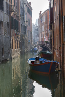 Italy, Venice, boat on canal - RPSF00027