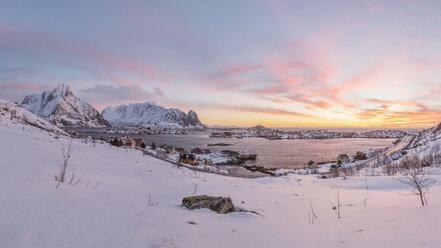 Norway, Lofoten, Reine at sunset - RPSF00048