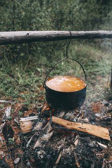 Cauldron over camp fire - VPIF00260
