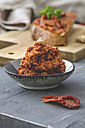 Spread vegan, with dried tomato and cashew nuts, rye bread - ODF01563