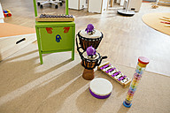 Musicial instruments lined up in kindergarten - MFF04076