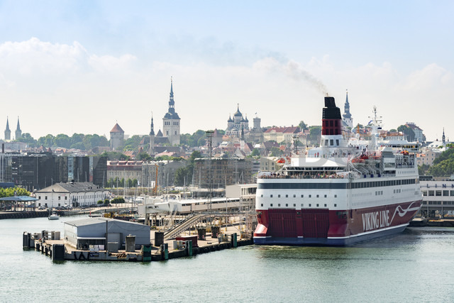 Estonia, Tallinn, Old town and harbour, ferry port - CST01458