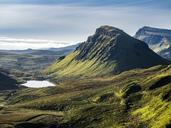 Great Britain, Scotland, Isle of Skye, View from Pass Quiraing - STSF01343