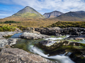 Great Britain, Scotland, Isle of Skye, Waterfall Slingachan - STSF01349