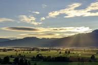 Germany, Bavaria, Upper Bavaria, sunrise above Loisachmoor near Groeben, Zell - LBF01696