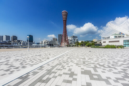 Japan, Kobe, Promenade at seaport, Kobe Port Tower - THAF02049