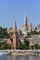 Hungary, Budapest, Buda Calvinist Church and Matthias Church - ABOF00310