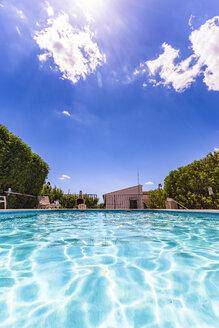 Spain, Mondron, swimming pool - SMAF00850