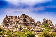Spain, Malaga Province, El Torcal, view to rock formation - SMAF00865
