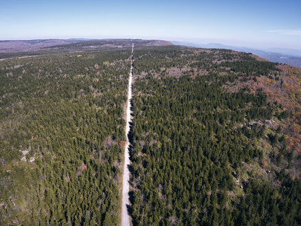 USA, West Virginia, Aerial view of road through Dolly Sods Wilderness area - BCDF00336
