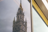 Germany, Bavaria, Munich, reflection of New City Hall in windowpane - MMAF00186