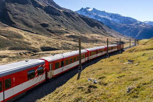 Switzerland, Canton of Uri, Matterhorn Gotthard Bahn, Glacier Express - STS01383