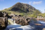 Great Britain, Scotland, Scottish Highlands, Glen Etive, River Etive, River Etive Falls - FOF09437