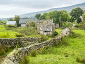 Great Britain, England, District Yorkshire Dales, rural scene, stonehouse - STSF01391