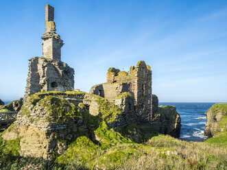UK, Scotland, Highland, Caithness, North Coast 500, Castle Sinclair Girnigoe - STSF01401