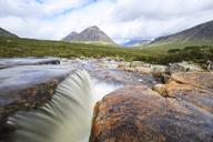 Great Britain, Scotland, Scottish Highlands, Rannoch Moor, Glencoe, Cauldon Waterfall, Buachaille Etive Mor and Mountain Stob Dearg - FOF09473