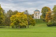 Germany, Bavaria, Munich, English Garden, Monopterus in autumn - KEBF00675