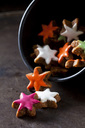 Home-baked coloured cinnamon stars - CSF28542