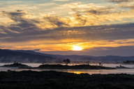 Great Britain, Scotland, Scottish Highlands, Glencoe, Rannoch Moor, Sunrise over Loch Ba - FOF09513