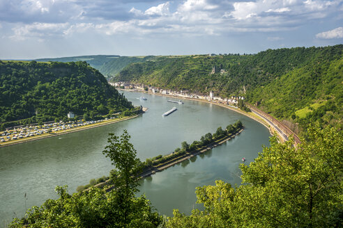 Germany, Rhineland-Palatinate, Upper Middle Rhine Valley, View of Kaub - PUF00898