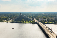 Latvia, Riga, National Library of Latvia and Daugava river - CSTF01476