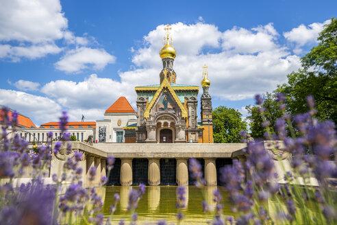 Germany, Hesse, Darmstadt, Mathildenhoehe, View of Russian Chapel - PUF00919
