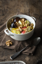 Curd with fruits, apple and plum, walnut and linseed oil - EVGF03266