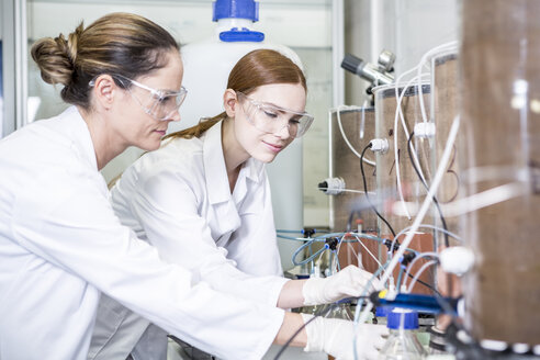 Two scientists working together in lab - WESTF23697