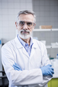 Portrait of confident scientist in lab - WESTF23751