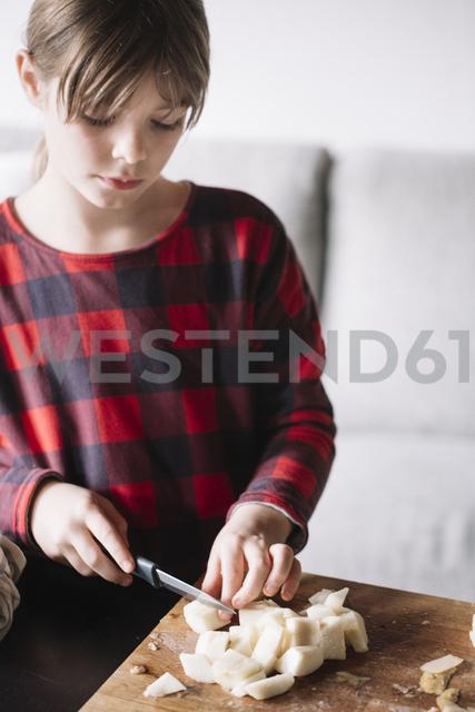 Portrait of chopping pear - ALBF00299