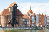 Poland, Pomerania, Gdansk, Old town, Crane Gate and promenade - CSTF01526