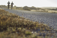 South Africa, Cape Town, country lane and two joggers in background - ZEF14853