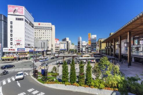 Japan, Nagano, city view - THA02061