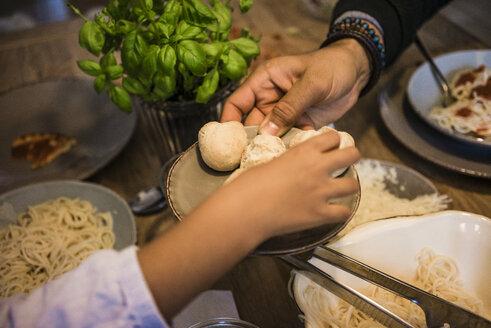 Hand serving bread rolls - MOEF00339