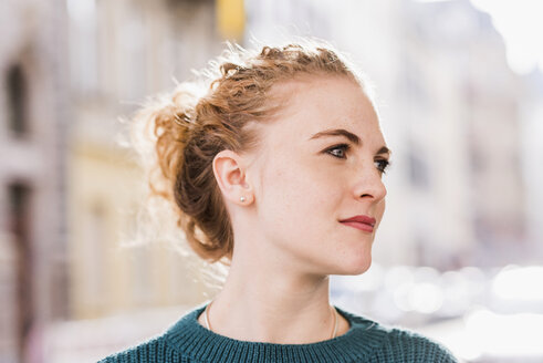 Portrait of strawberry blonde young woman - UUF12324