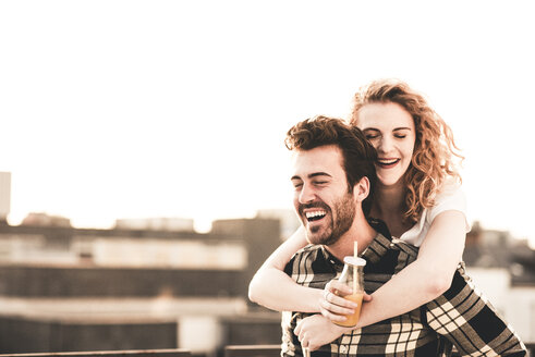 Portrait of happy young couple in love - UUF12360