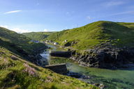 Great Britain, England, Boscastle, harbour wall, river mouth of Valency river - SIEF07610